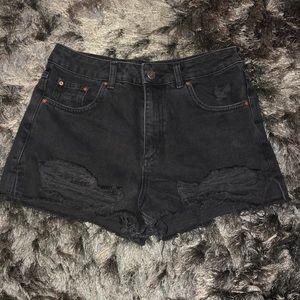 Topshop Moto Mom Denim Shorts Sz 8